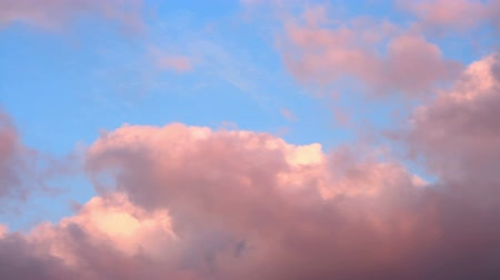 pink : Pink clouds, Short time lapse motion Stock Footage