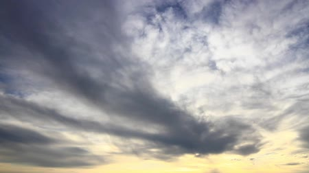 altostratus : Sunset through layers of clouds as moving background. Sunset clouds. HD Panning. Rotation effect. Stock Footage