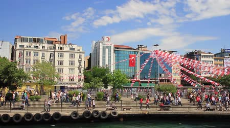 nationwide protest : ISTANBUL - JUN 1: Violence sparked by plans to build on the Gezi Park have broadened into nationwide anti government unrest on June 1, 2013 in Istanbul, Turkey. Kadikoy Quayside