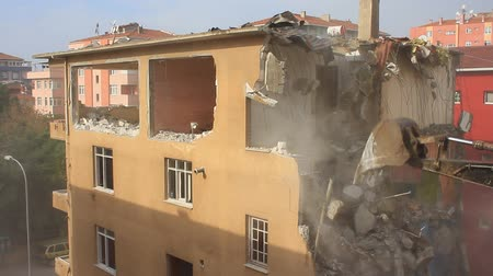 yıkım : House demolition. Turkey sits on a vulnerable fault line and most buildings in the country still fail to meet basic safety standards against an