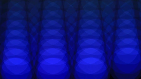 привело : Abstract Blue Lights Background. Rhythmic Spot Lights Out and In Focus Стоковые видеозаписи
