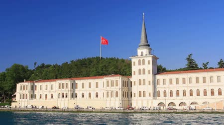 historical building : Kuleli High School Building from the waterside, Bosporus, Istanbul