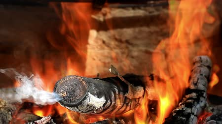 helyek : Smoke from burning logs causes headaches, and twigs must never be used for skewering meat. Firewood fumes contain small sized particulate matter and carbon monoxide. Closeup