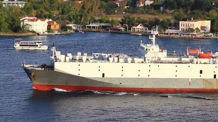 mezinárodní : Large vehicles carrier ship. A 155 mt long, 24 mt width vessel has a deadweight of 18,337 tons and a capacity of 1082 vehicle.