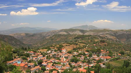 seljuk : Sirince village, surrounded by olive groves, peach orchards and vineyards. Panoramic view Village located 8 kilometers up in the eastern Selcuk Mountains