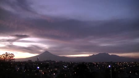 meksyk : Panoramic view of Puebla City Wideo