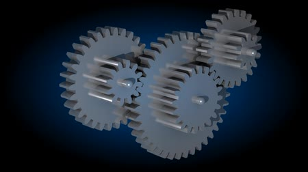 functionality : 3d animation of rotating gears in black environment