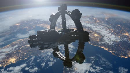 rakieta : Space Station Orbiting Earth. Wideo