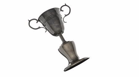 núpcias : Champion trophy cup on white background