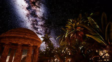 aurelian : 4K Ancient Roman time in the desert and Milky Way stars. Elements of this image