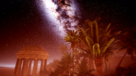 aurelian : 4K Ancient Roman time town in desert and Milky Way stars.