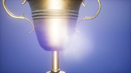 trofej : 4K Super slow motion Champion trophy cup Dostupné videozáznamy
