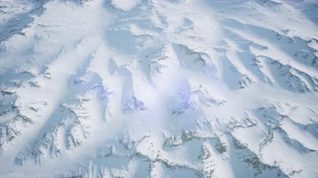 denteado : Polar Snow Rocky Mountains Ridges In a cold polar region Vídeos