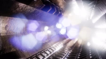 toward : Computer generated ride in a spaceship tunnel Stock Footage