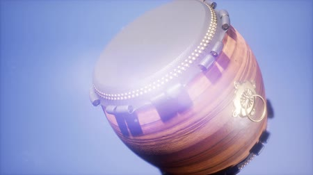 taiko drums : Ramadan drum with DOF and lense flairs Stock Footage