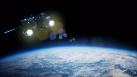 sputnik satellite : Space Shuttle above the Earth