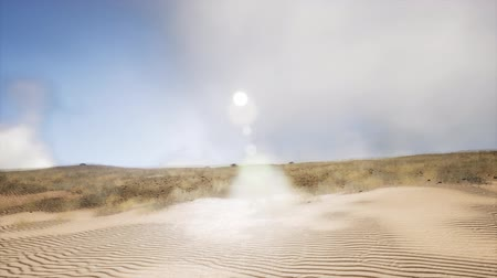 bush fire : smoke over sand dunes Stock Footage