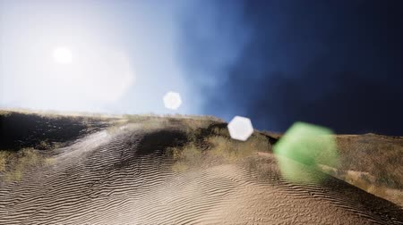 kumul : smoke over sand dunes Stok Video