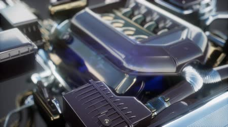 benzine : detailed car engine and other parts or the car