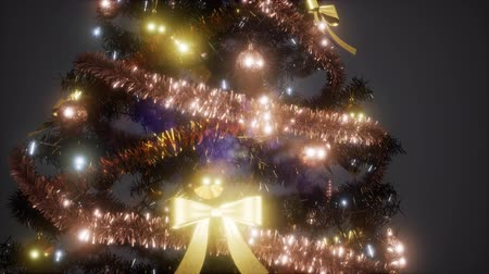 восхитительный : Joyful studio shot of a Christmas tree with colorful lights