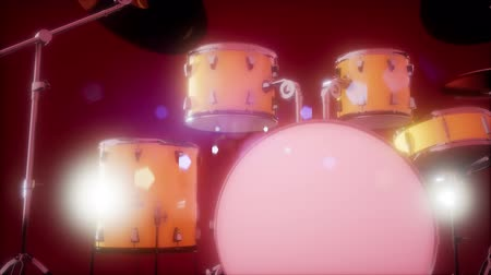 tom : drum set with DOF and lense flair