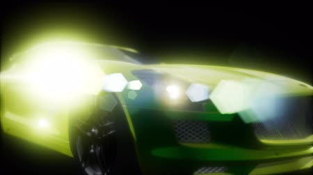 velocity : luxury sport car in dark studio with bright lights