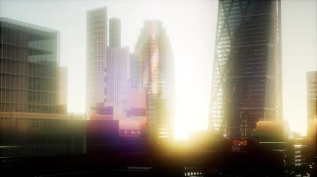 canário : concept of London city at sunset Stock Footage