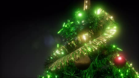 tempo de natal : Joyful studio shot of a Christmas tree with colorful lights