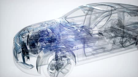 dehet : Holographic animation of 3D wireframe car model Dostupné videozáznamy