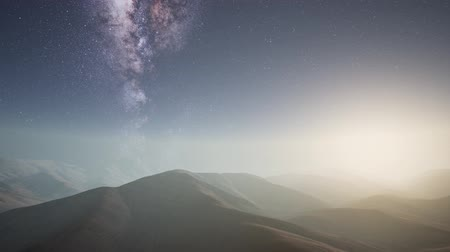 leuven : Milky Way stars above desert mountains