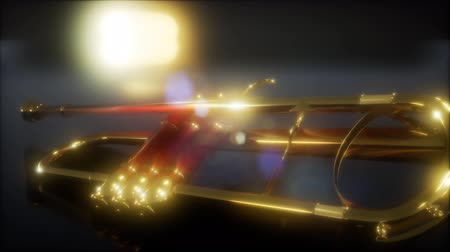 traditional instruments : brass trumpet in the dark