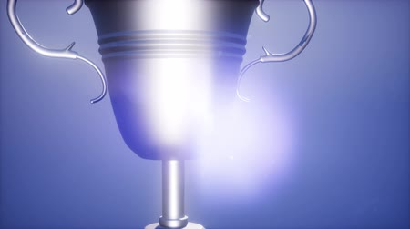 award : 4K Super slow motion Champion trophy cup Stock Footage