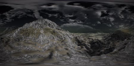 derece : VR 360 Huge Dark Clouds over Scottish Highlands
