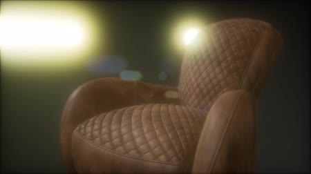 almofadas : Vintage brownie leather sofa with grunge dark Stock Footage