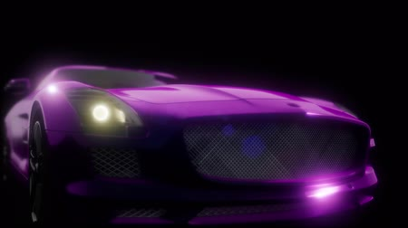 agresif : luxury sport car in dark studio with bright lights
