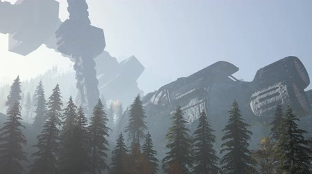 spaceship : UFO crashed in the forest