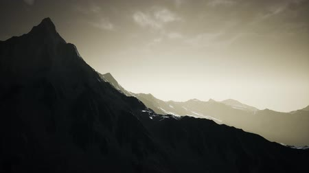 hordaland : Norway Mountains Severe Landscape Stock Footage