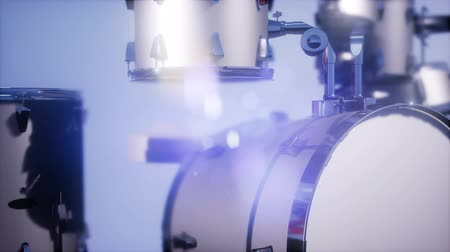 cymbals : 4k drum set with DOF and lense flair Stock Footage