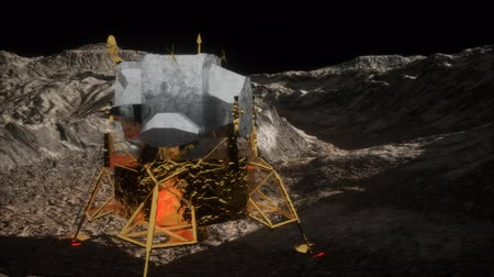 keşif : lunar landing mission on the Moon Stok Video