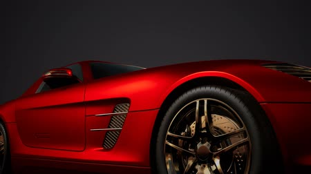 дорогой : luxury sport car in dark studio with bright lights