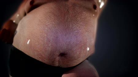 упитанность : Fat man with a big belly. Diet