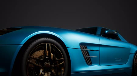 hybride : luxury sport car in dark studio with bright lights
