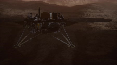 geologia : Insight Mars exploring the surface of red planet