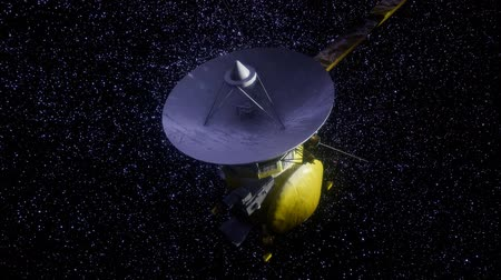 voyager : Satellite Cassini is approaching Saturn Stock Footage