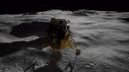 lunar : lunar landing mission on the Moon Stock Footage