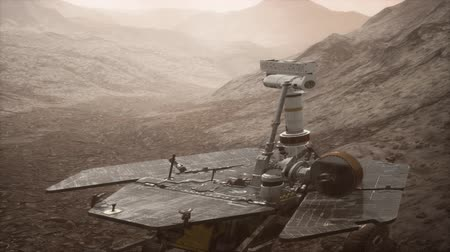 Марс : Opportunity Mars exploring the surface of red planet