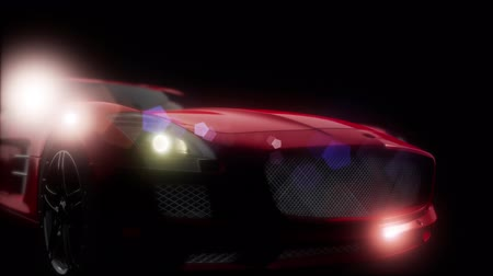 hangoló : luxury sport car in dark studio with bright lights