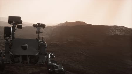siding : Curiosity Mars exploring the surface of red planet Stock Footage