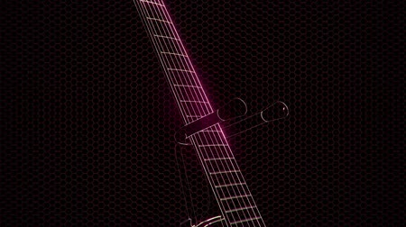truss : electric guitar in the hologram with bright lights