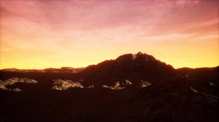 sudoeste : Sunset at the Rocky Valley Stock Footage